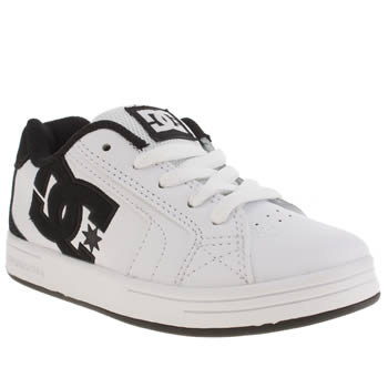 Dc Shoes White & Black Net Boys Junior