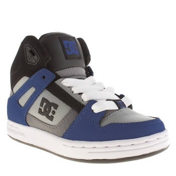 Dc Shoes Navy & Grey Rebound Boys Junior