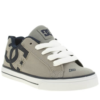 Dc Shoes Grey Court Graffik Vulc Tx Jnr Boys Junior