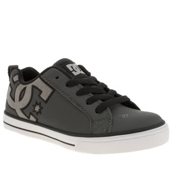 Dc Shoes Dark Grey Court Graffik Vulc Boys Junior
