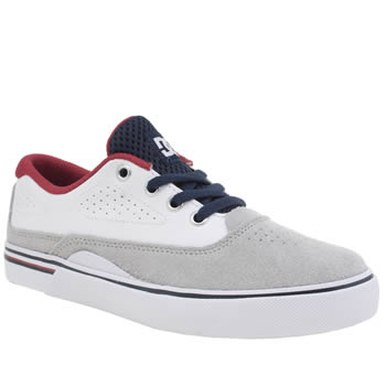 Dc Shoes White & grey Sultan Boys Junior