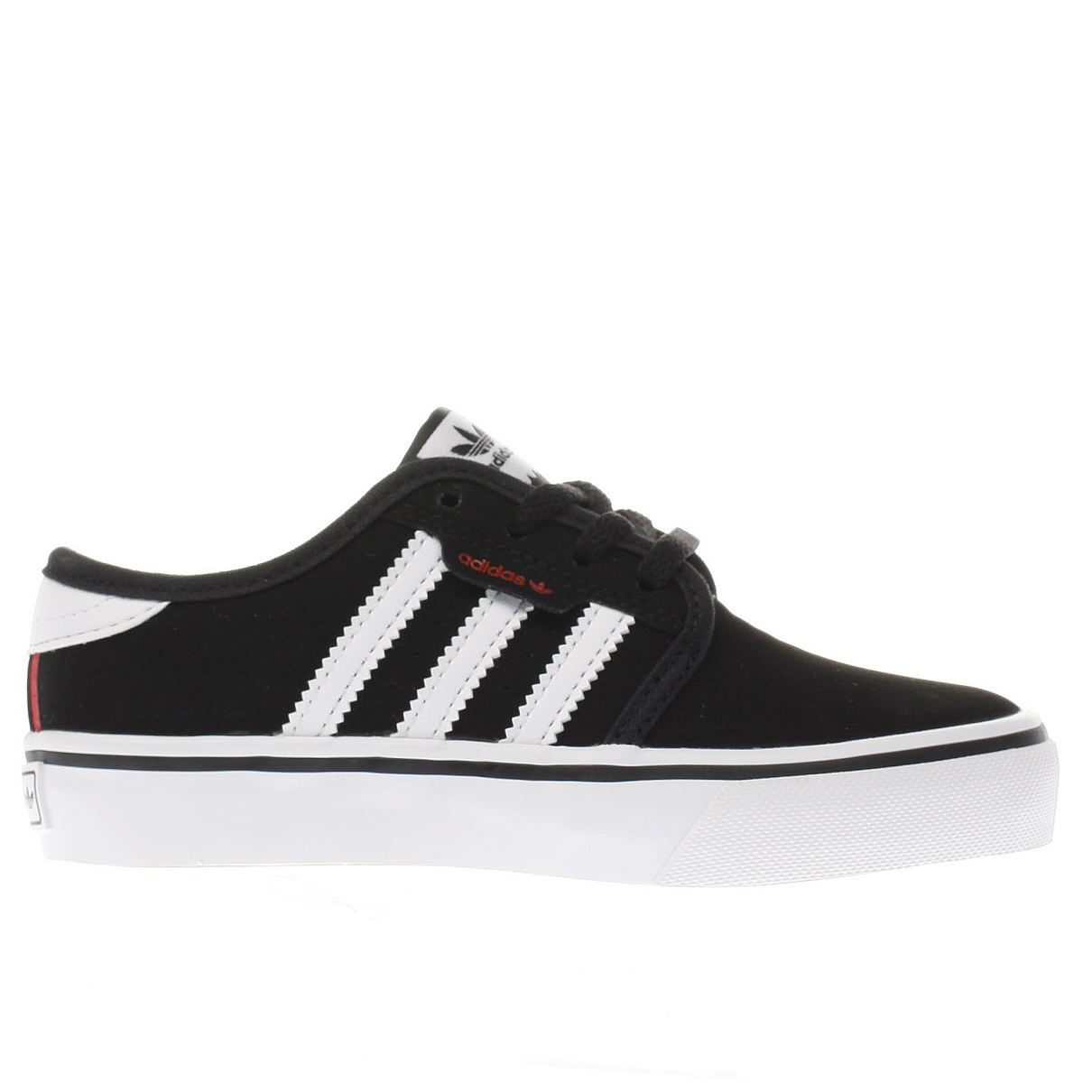 adidas black & white seeley Boys Junior Trainers
