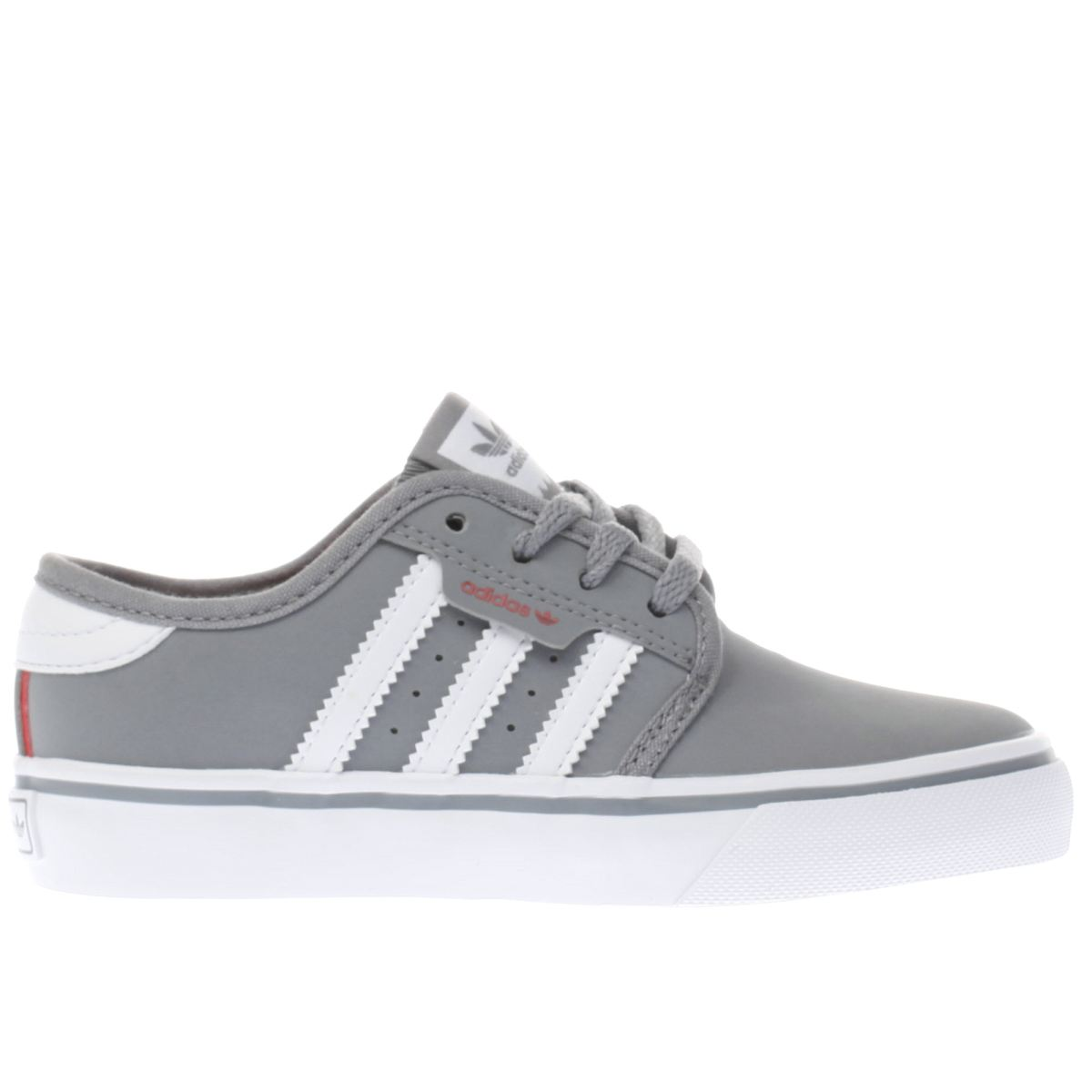 adidas grey seeley Boys Junior Trainers