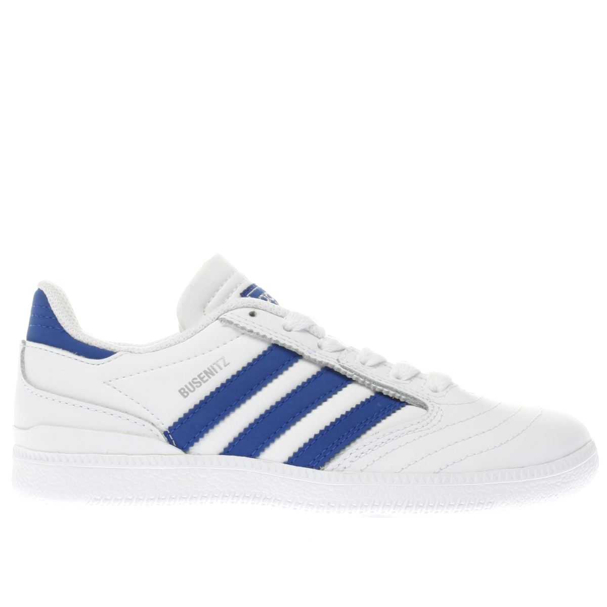 adidas white & navy busenitz Boys Junior Trainers