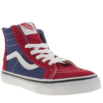 Boys Vans Red Sk8-hi Zip Boys Junior