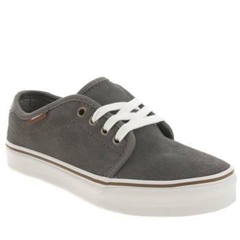 Boys Vans Dark Grey 159 Vulc Boys Junior