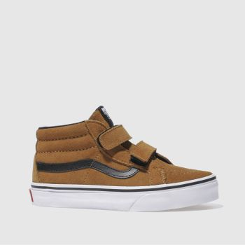 Vans Brown Sk8-Mid Reissue Boys Junior