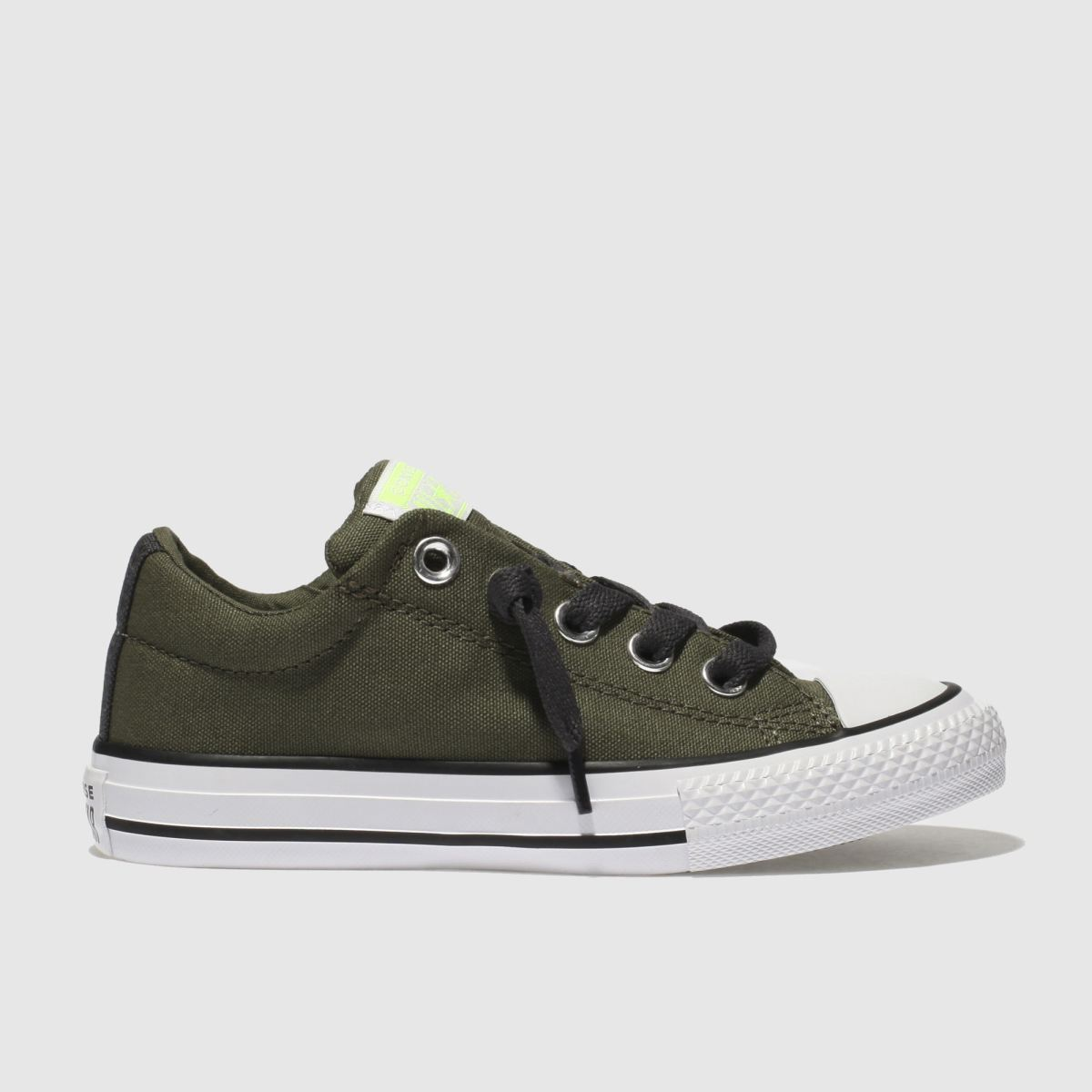 Converse Khaki All Star Street Slip Trainers Junior