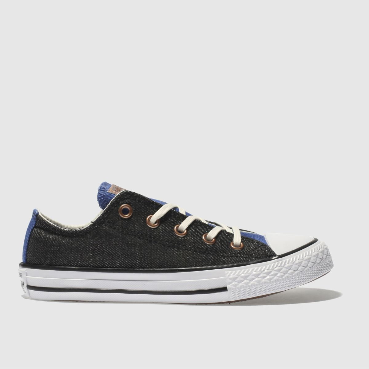 Converse Black And Blue Chuck Taylor All Star Lo Boys Junior Trainers