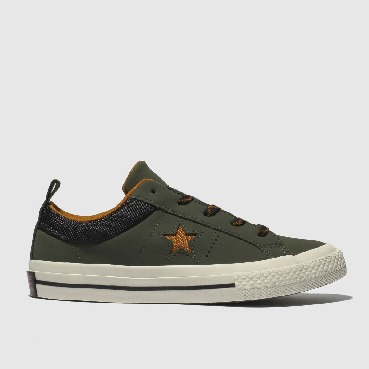 Converse Khaki One Star Lo Trainers Junior