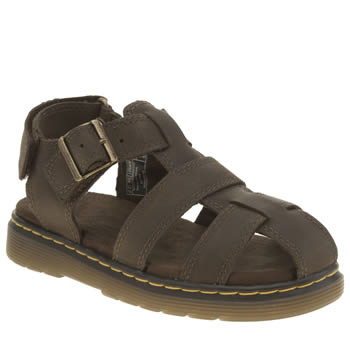 Dr Martens Dark Brown Sailor Sandal Boys Junior