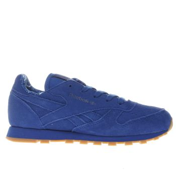 Reebok Blue Classic Leather Tdc Boys Junior