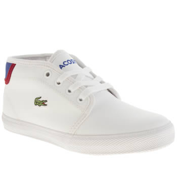 Lacoste White & Navy Ampthill Boys Junior