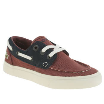 Lacoste Burgundy Keel Boys Junior