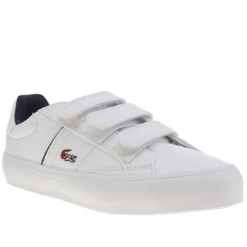 Lacoste White & Red Fairlead Boys Junior