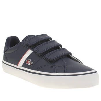Lacoste Navy & Red Fairlead Boys Junior