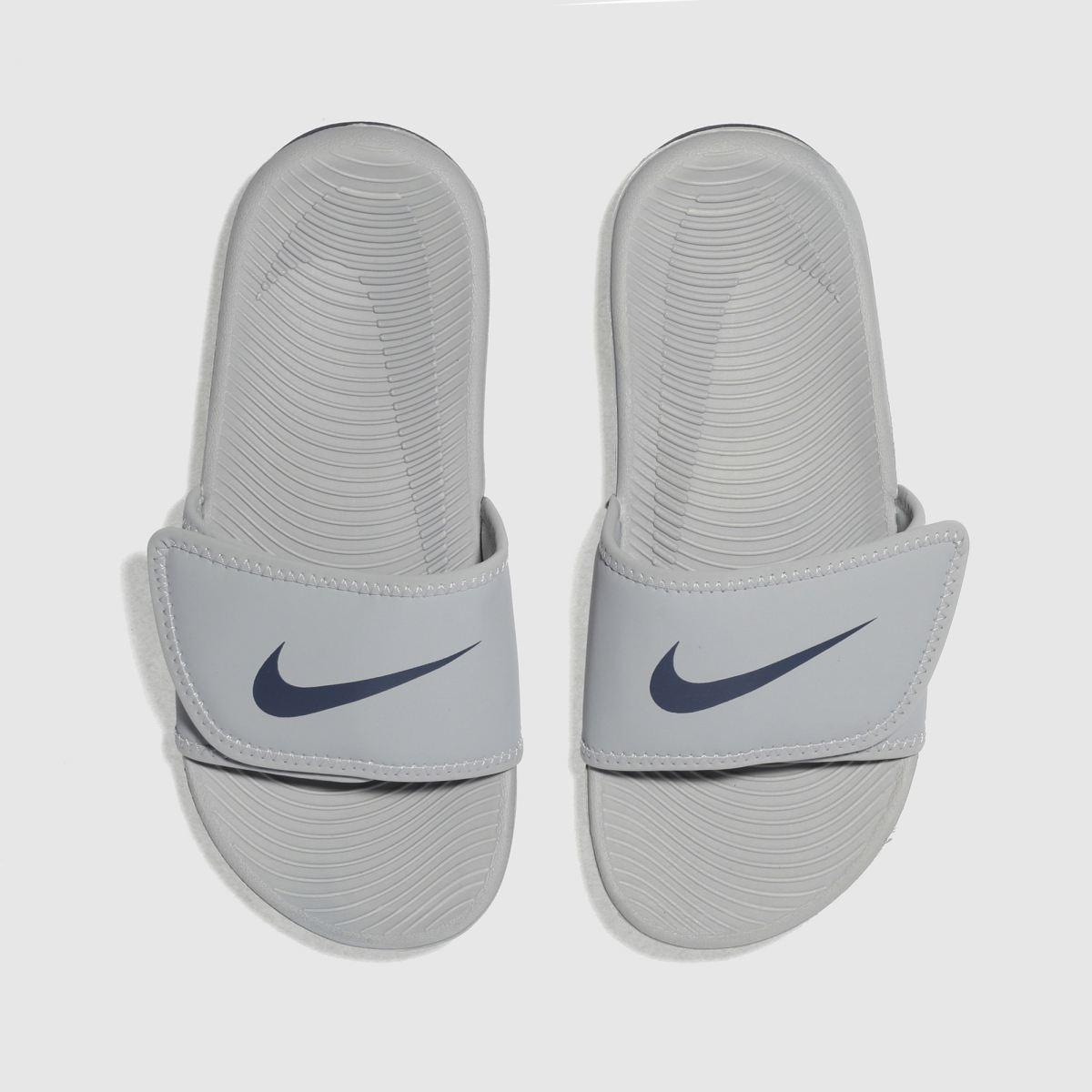 Nike Light Grey Kawa Adjust Boys Junior Sandals