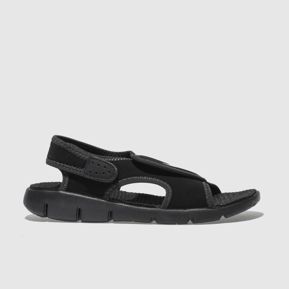 Nike Black Sunray Adjust Boys Junior Sandals