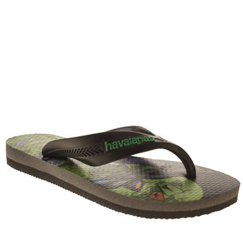 Havaianas Navy & Green Max Heroes Boys Junior