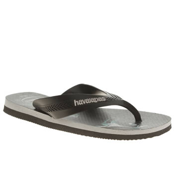 Havaianas Black & Teal Max Heroes Boys Junior