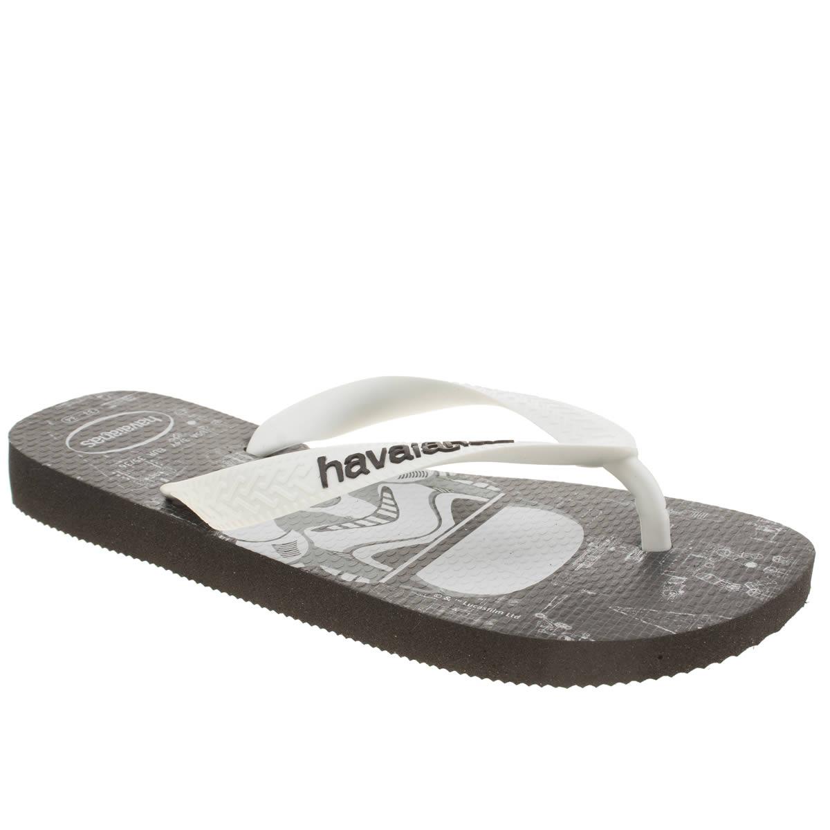 havaianas black & white star wars Boys Junior Sandals
