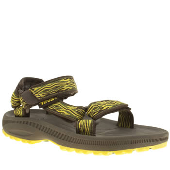 kids teva yellow hurricane 2 trainers