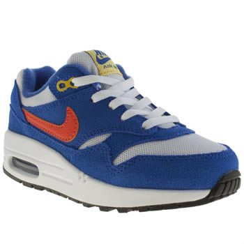 Nike Blue Air Max 1 Boys Junior