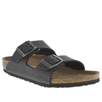 Birkenstock Dark Grey Arizona Boys Junior