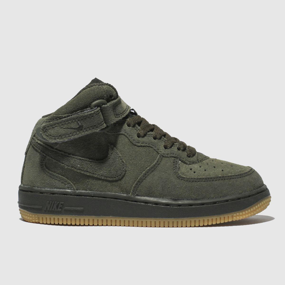 Nike Khaki Air Force 1 High Lv8 Trainers Junior