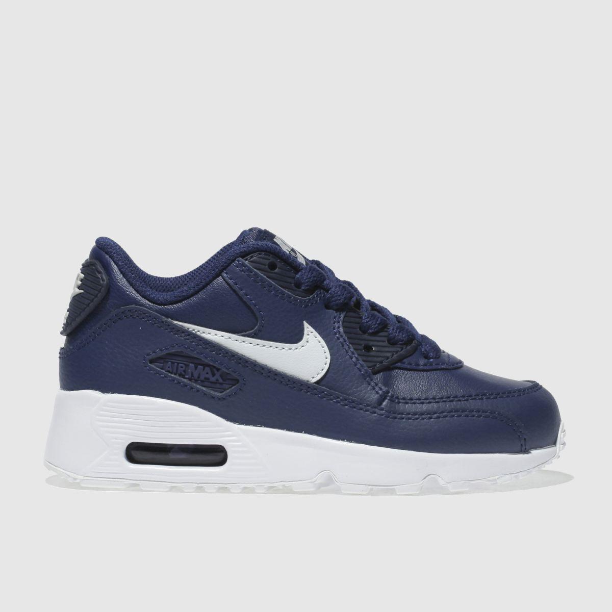 Nike Blue Air Max 90 Trainers Junior