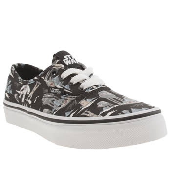 Boys Vans Black & Grey Authentic Star Wars Boys Junior