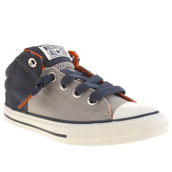 Boys Converse Grey & Navy All Star Axel Boys Junior