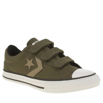 Converse Khaki Star Player 3v Boys Junior