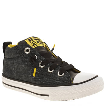 Converse Black All Star Street Hi Boys Junior