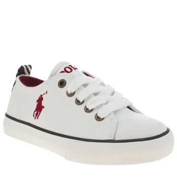 Polo Ralph Lauren White Falmuth Low Boys Junior