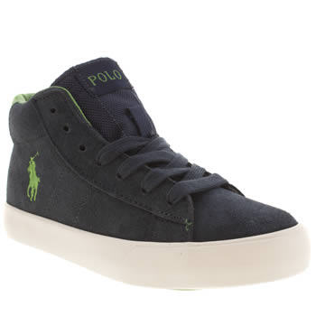 Polo Ralph Lauren Navy & Green Bronson Mid Boys Junior