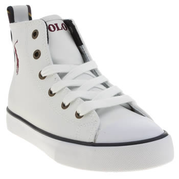 Polo Ralph Lauren White Falmuth Hi Boys Junior