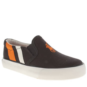 Polo Ralph Lauren Navy & Orange Seth Slip On Boys Junior