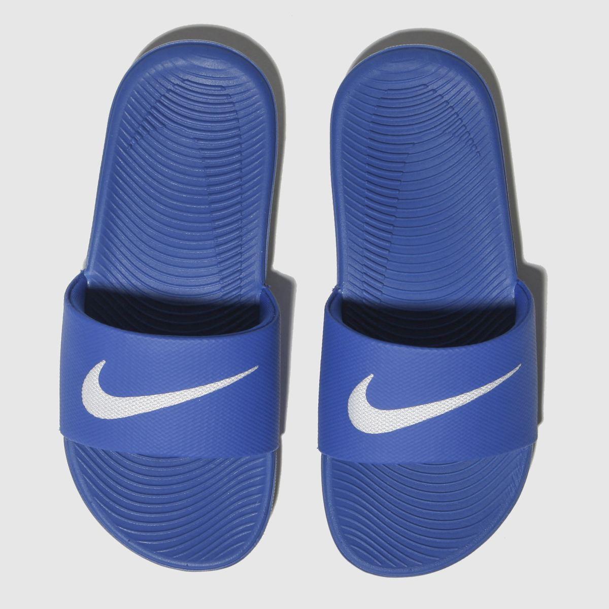 Nike Blue Kawa Slide Trainers Junior