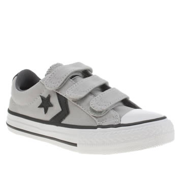 Converse Light Grey Star Player 3v Boys Junior