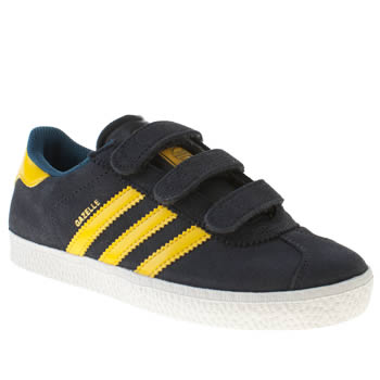 kids adidas navy gazelle ii trainers