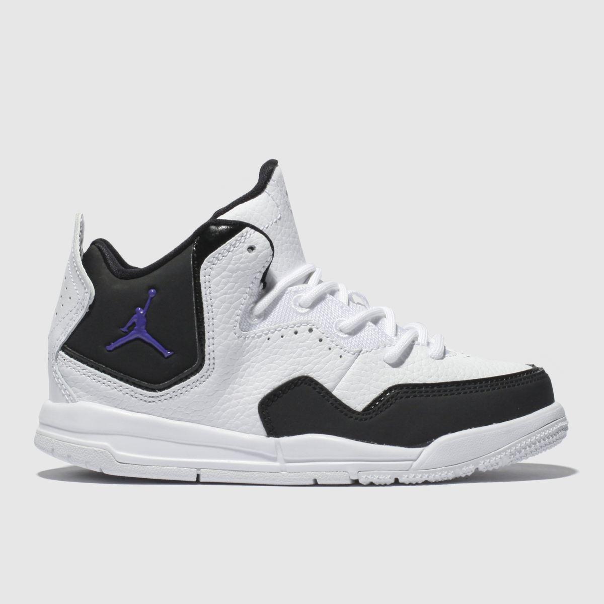 Nike Jordan White & Black Courtside 23 Trainers Junior