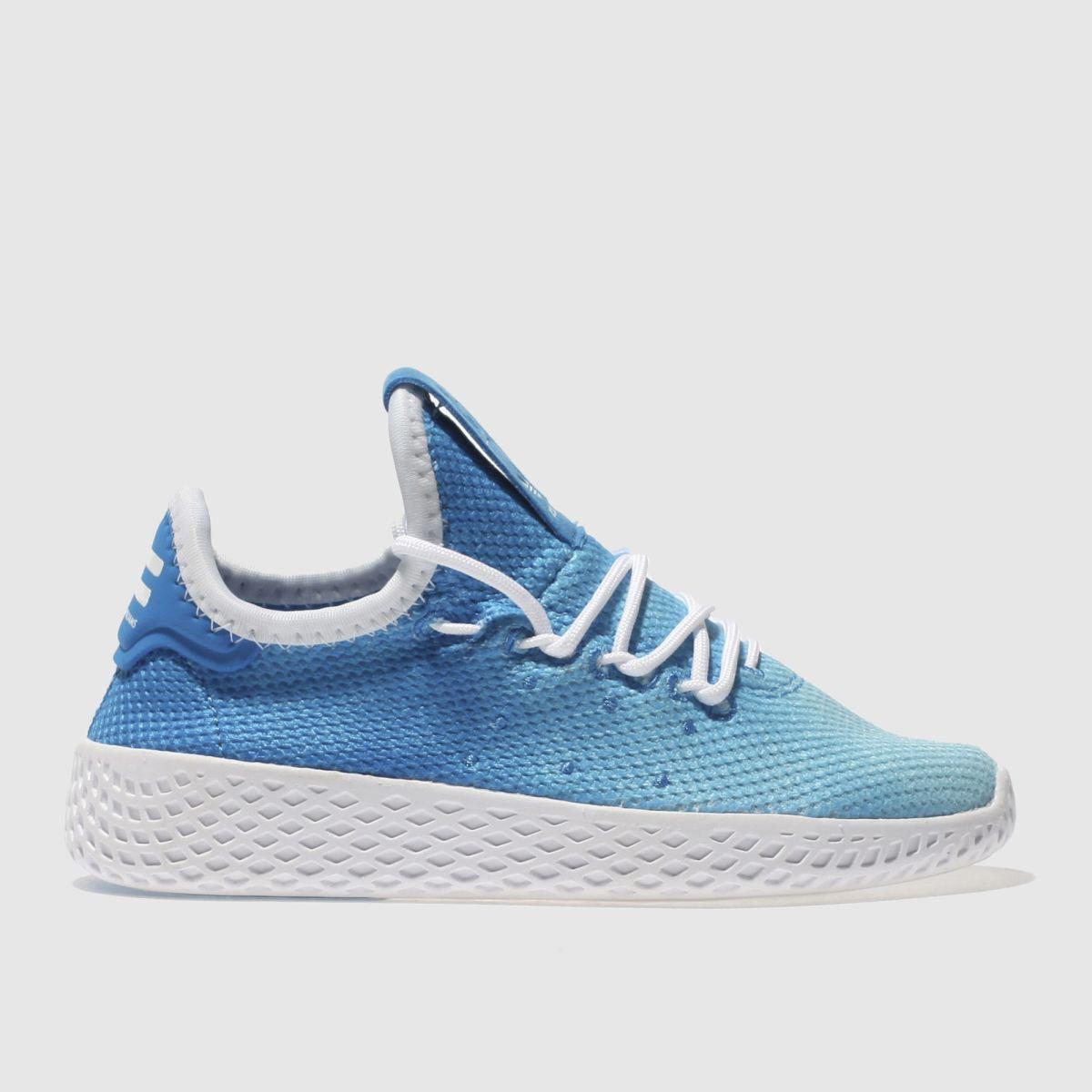Adidas Blue Tennis Pharrell Hu Holi Boys Junior Trainers