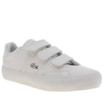 Lacoste White Fairlead Boys Junior