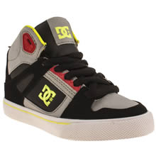 Junior Black & Grey Dc Shoes Spartan Hi
