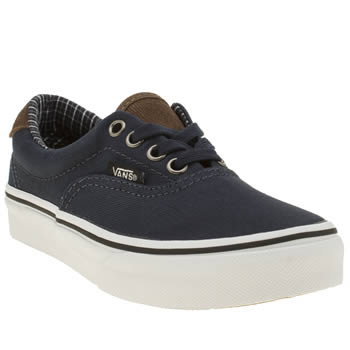Vans Navy Cord Plaid Era 59 Boys Junior