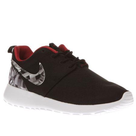 mdhrx Boys Black & Grey Nike Roshe One Print Youth Trainers | schuh