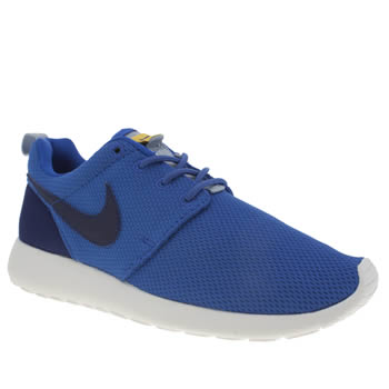 Nike Blue & Yellow Roshe One Boys Youth