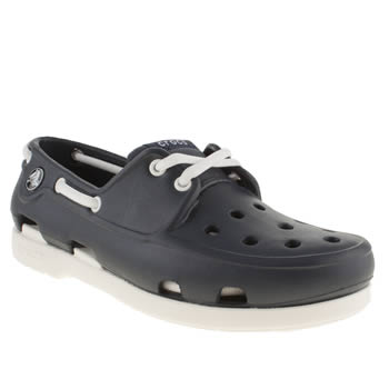 Crocs Navy & White Beach Line Boys Youth
