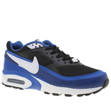 Nike Black and blue Air Max Bw Boys Youth